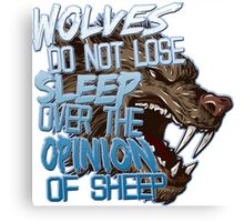 Wolves Opinion Canvas Print