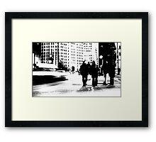 Cold city Framed Print