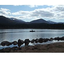 Lone Canoeist - Cairngorms National Park  Photographic Print