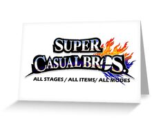 Super Casual Bros: All Stages All Items All Modes Greeting Card