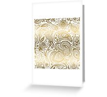 Faux Fold Floral Paisley Greeting Card