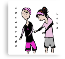 Breast Cancer Awareness Friends Canvas Print