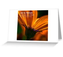 My book, Art in Nature Greeting Card