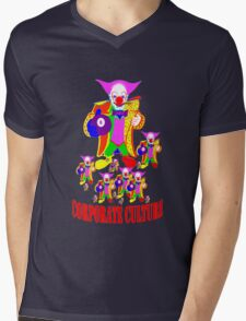 CORPORATE CULTURE CLOWNTOWN 101 Mens V-Neck T-Shirt