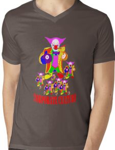 CORPORATE CULTURE CLOWNTOWN 101 Mens V-Neck T-Shirt