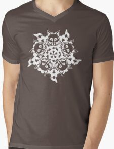 Wolf ZOOFLAKE Mens V-Neck T-Shirt