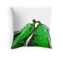 Green pumpkins Throw Pillow