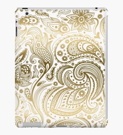 Faux Fold Floral Paisley iPad Case/Skin