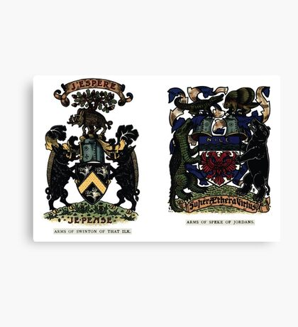 A Complete Guide to Heraldry - Plate IV - Arms of Swinton of That Ilk - Arms of Speke of Jordans Canvas Print