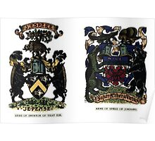 A Complete Guide to Heraldry - Plate IV - Arms of Swinton of That Ilk - Arms of Speke of Jordans Poster