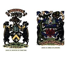A Complete Guide to Heraldry - Plate IV - Arms of Swinton of That Ilk - Arms of Speke of Jordans Photographic Print