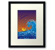 Sea sunset Framed Print
