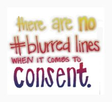 No blurred lines in consent T-Shirt