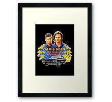 Sam & Dean Vintage Transfer Framed Print