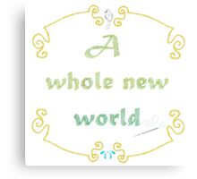 A Whole New World Needlepoint Canvas Print