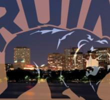 Boston Bruins Skyline Sticker