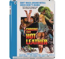 Chrome and Hot Leather (Blue) iPad Case/Skin