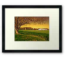 Sunsets on Crepe Myrtle Farm Framed Print