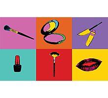 Pop Art Makeup  Photographic Print