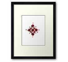 Compass (Red) Framed Print