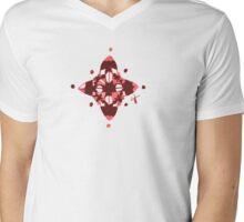 Compass (Red) Mens V-Neck T-Shirt