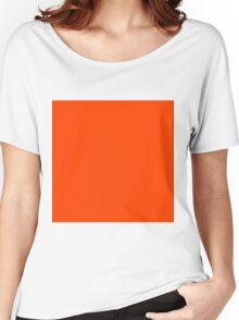 Beautiful Cushions/ Plain Orange Red 400 colours cheap Women's Relaxed Fit T-Shirt