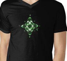Compass (Green) Mens V-Neck T-Shirt