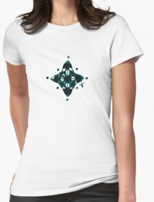 Compass (Blue) Womens Fitted T-Shirt