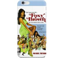 Foxy Brown (Blue) iPhone Case/Skin