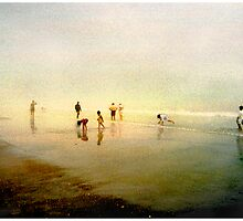 Ten People on A Beach by Mark Ross