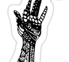 Reaching (Black on White) Sticker