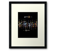 Kingdom heart 2 Keyblade Framed Print
