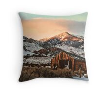 Livery Stable Evening Throw Pillow