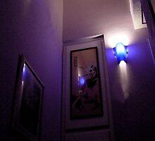 Lavender Shadowed Stairwell by RoyAllen Hunt
