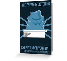 Chrome Incognito Propaganda Poster Greeting Card