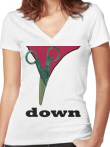 cut down  Women's Fitted V-Neck T-Shirt