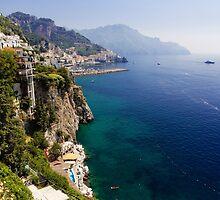 Amalfi Coastal View by George Oze