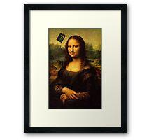 Mona Lisa Tardis Framed Print