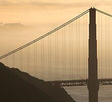 Golden San Francisco Morning by fangshangwei