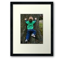 Spider Boy Framed Print