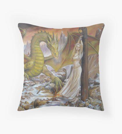 Dragon and Captive Throw Pillow