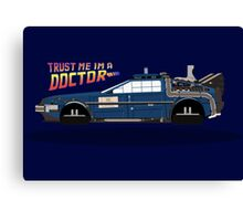 Delorean Tardis Canvas Print