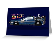 Delorean Tardis Greeting Card