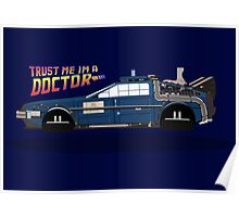 Delorean Tardis Poster