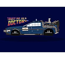 Delorean Tardis Photographic Print