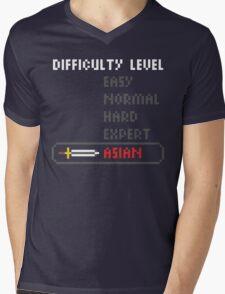 Difficulty Level: Asian Mens V-Neck T-Shirt