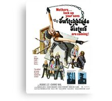 Switchblade Sisters Alt 2 (Red) Canvas Print