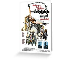 Switchblade Sisters Alt 2 (Red) Greeting Card