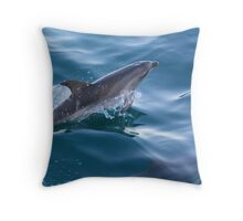 Dolphin at play 2 Throw Pillow