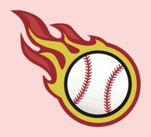 Baseball On Fire Kids Clothes
